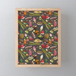 Summer BBQ Cookout Framed Mini Art Print