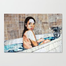 The Bath - Layered Paper Collage Canvas Print