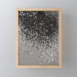 Silver Gray Glitter #1 #shiny #decor #art #society6 Framed Mini Art Print
