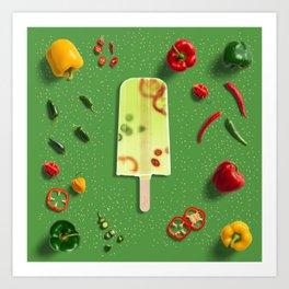 Pepper Popsicle Art Print