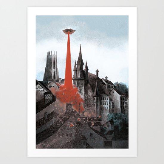 Bloody tomorrows Art Print