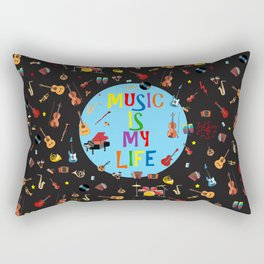 Music is my life Rectangular Pillow