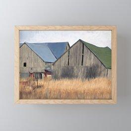 Old Barns Framed Mini Art Print