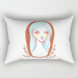 Blue Haired Forest Nymph Rectangular Pillow