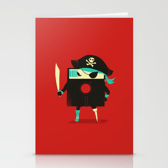 Software Pirate Stationery Cards
