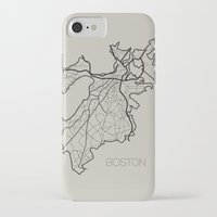 boston iPhone & iPod Cases featuring Boston by linnydrez
