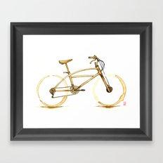 Coffee Wheels #01 Framed Art Print