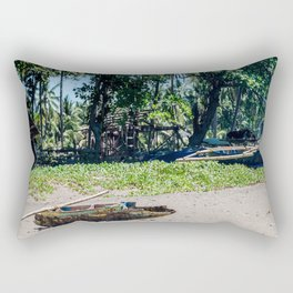 Weathered 'Bangka' Kayak Rectangular Pillow