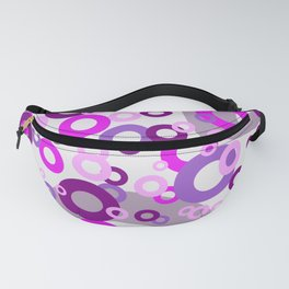 rings pink purple - white Fanny Pack