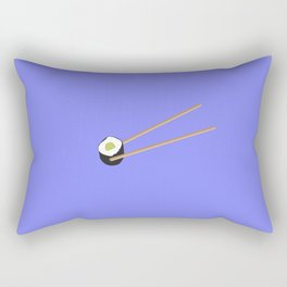 Sushi roll with chopsticks Rectangular Pillow