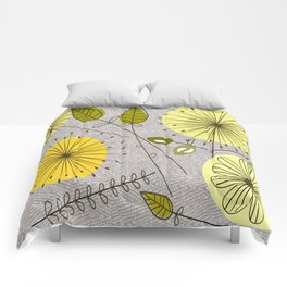 Mid-Century Modern Floral Comforters