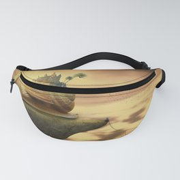 The Snail With The Castle Back Pulls The World Fanny Pack