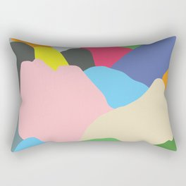 Color Mountain Rectangular Pillow