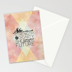 Proverbs 31 She is...  Stationery Cards