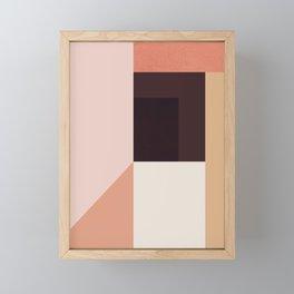 Abstraction_Colorblocks_001 Framed Mini Art Print