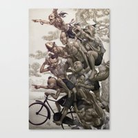 artgerm Canvas Prints featuring Ten Brothers by Artgerm™