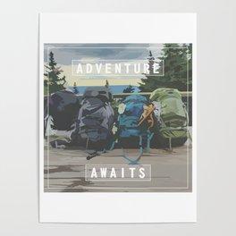 hiker's oasis Poster