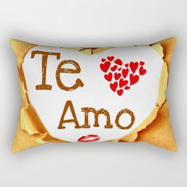 Te amo Broken paper Rectangular Pillow