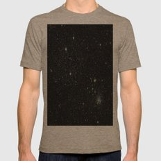 Universe Space Stars Planets Galaxy Black and White Tri-Coffee Mens Fitted Tee SMALL