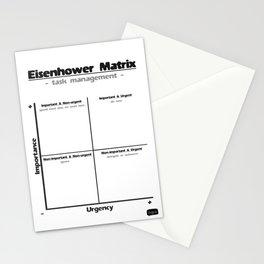 Task Management With the Eisenhower Matrix Stationery Cards