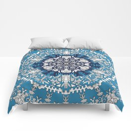 Trance Dream - Maya (Double Blue Edition) Comforters