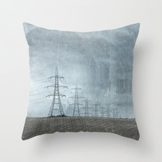 March of the Pylons Throw Pillow
