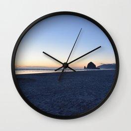 Cannon Beach Sunset 2 Wall Clock