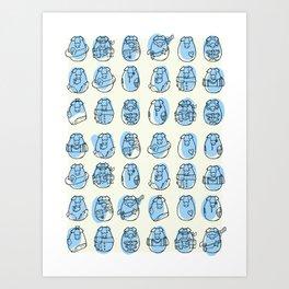 Pig family Art Print
