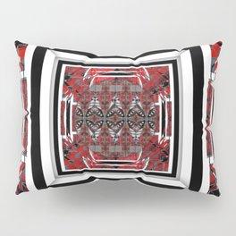 NUMBER 221 RED BLACK GRAY WHITE PATTERN Pillow Sham