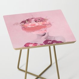 Woman in flowers Side Table