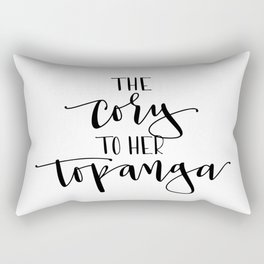 The Cory to her Topanga Rectangular Pillow