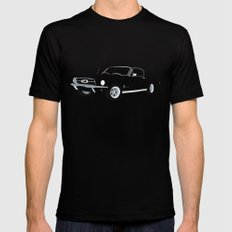 1968 Ford Mustang GT MEDIUM Mens Fitted Tee Black