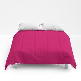 Crimson Red Solid Matte Colour Palette Comforters