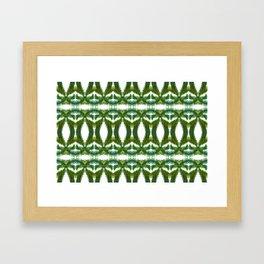 Palm Leaf Kaleidoscope (on white) #2 Framed Art Print