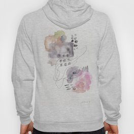 180805 Subtle Confidence 6| Colorful Abstract |Modern Watercolor Art Hoody