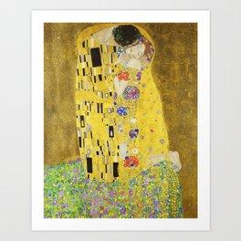 The Kiss - Gustav Klimt, 1907 Art Print