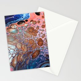 Abstract Acrylic Pour Stationery Cards