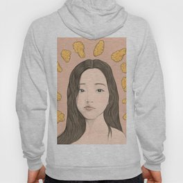 GIRL WITH CHICKEN Hoody