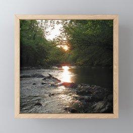 Watercolor Eno River, NC 8 Framed Mini Art Print