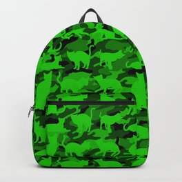 Bright Neon Green Catmouflage Backpack