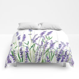 lavender watercolor horizontal Comforters