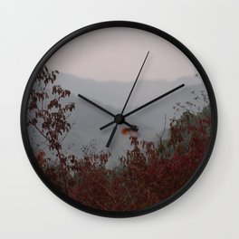 bird with red tail Wall Clock