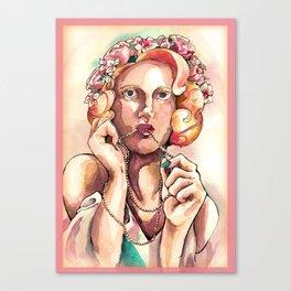 Evie Watercolor Canvas Print