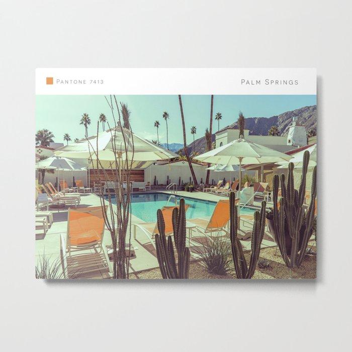 Pantone: Palm Springs Pool Metal Print