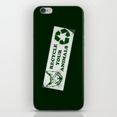 Recycle your animals - Fight club iPhone & iPod Skin