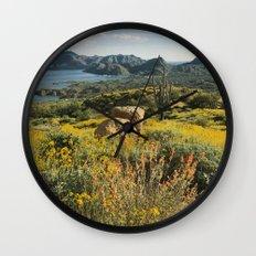 Arizona Spring Mountain Bloom Wall Clock