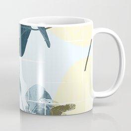 Tropical Leaves Blue Coffee Mug