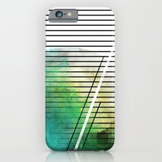 MINIMAL STRIPES SEA GREEN PAINT Slim Case iPhone 6