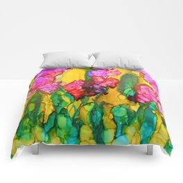 Pink Lilacs Comforters