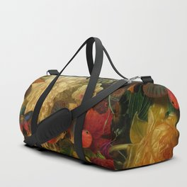 """Baroque Spring of Flowers and Butterflies"" Duffle Bag"